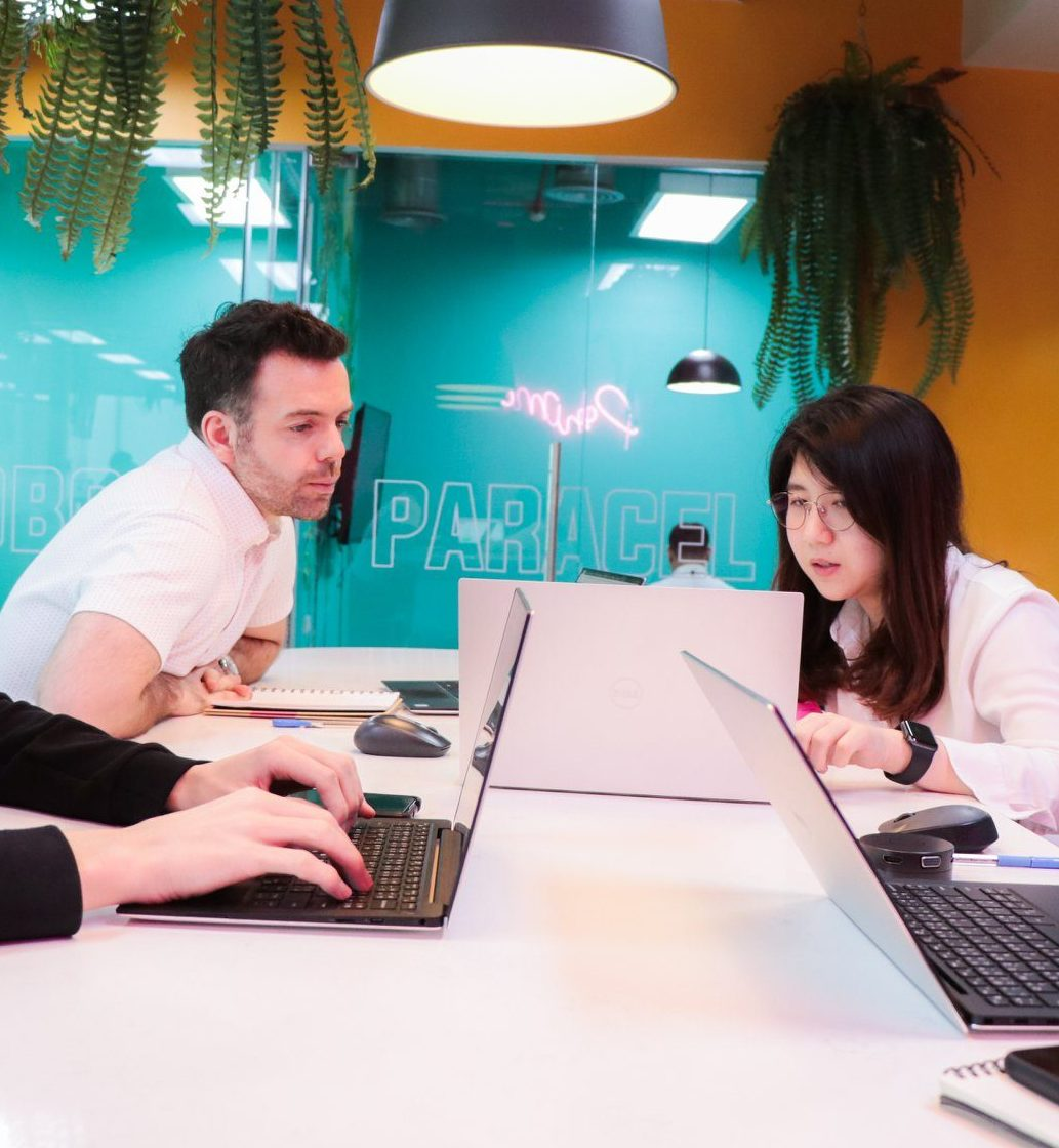an SEO Consultant works with colleague